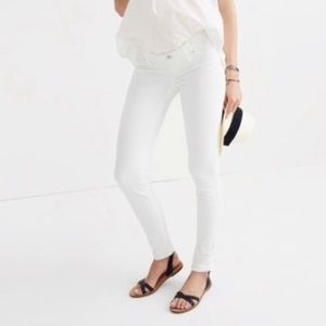Madewell White Maternity Skinny Jeans